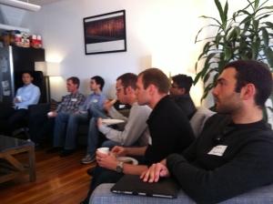No BS Data Salon #2 attendees during Sean Gourley's Presentation