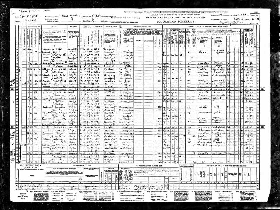 US 1940 Census Page - m-t0627-02476-00275